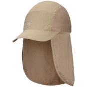 Mountain Hardwear Cooling Ravi Flap Cap Hat, Khaki, medium