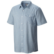 Mountain Hardwear Drummond S/S Mens Shirt, Phoenix Blue, medium