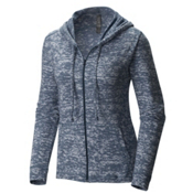 Mountain Hardwear Burned Out Full Zip Womens Hoodie, Heather Zinc, medium