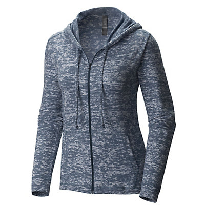 Mountain Hardwear Burned Out Full Zip Womens Hoodie, Heather Zinc, viewer