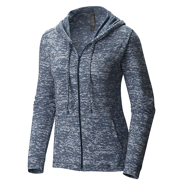 Mountain Hardwear Burned Out Full Zip Womens Hoodie, Heather Zinc, 600