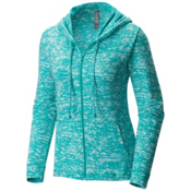 Mountain Hardwear Burned Out Full Zip Womens Hoodie, Heather Glacier Green, medium