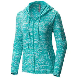 Mountain Hardwear Burned Out Full Zip Womens Hoodie, Heather Glacier Green, 256