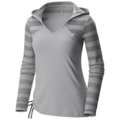 Mountain Hardwear DrySpun Perfect Womens Hoodie, Steam, medium