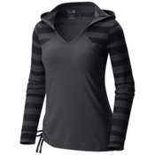 Mountain Hardwear DrySpun Perfect Womens Hoodie, Black, medium