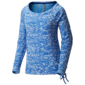 Mountain Hardwear Burned Out L/S Pullover Womens Shirt, Heather Bright Island Blue, medium