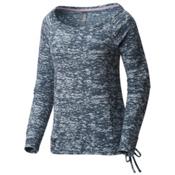 Mountain Hardwear Burned Out L/S Pullover Womens Shirt, Heather Zinc, medium