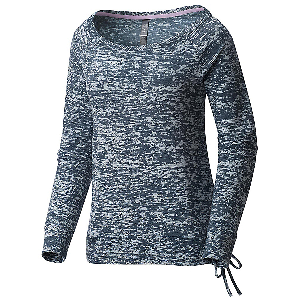 Mountain Hardwear Burned Out L/S Pullover Womens Shirt, Heather Zinc, 600