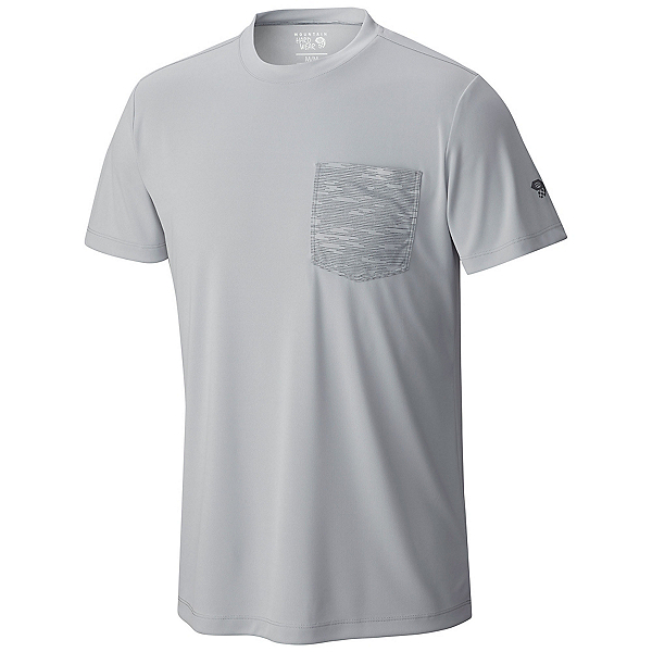 Mountain Hardwear River Gorge S/S Crew Mens Shirt, Grey Ice, 600