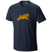 Mountain Hardwear 50 Percent Goat S/S T-Shirt, Heather Hardwear Navy, medium