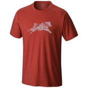 Mountain Hardwear 50 Percent Goat S/S T-Shirt, Heather Dark Fire, medium