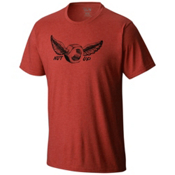 Mountain Hardwear Nut Up S/S T-Shirt, Heather Dark Fire, medium