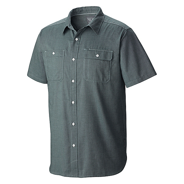 Mountain Hardwear Drummond Utility S/S Mens Shirt, Ice Shadow, 600