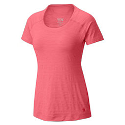 Mountain Hardwear Mighty Stripe Short Sleeve Womens T-Shirt, Paradise Pink, 256