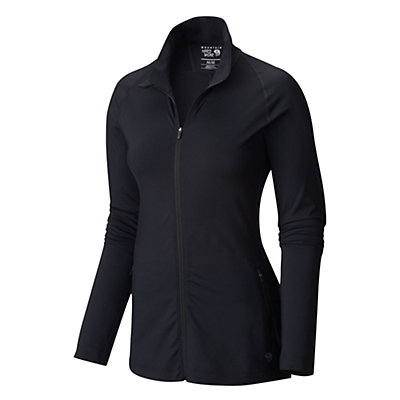Mountain Hardwear Butterlicious Full Zip Womens Jacket, Black, viewer