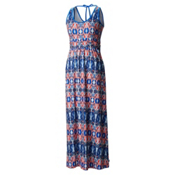 Mountain Hardwear DrySpun Perfect Printed Maxi Dress, Bright Island Blue, medium