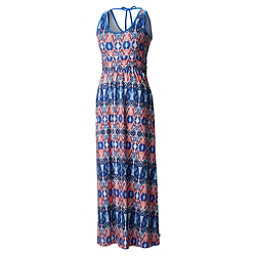 Mountain Hardwear DrySpun Perfect Printed Maxi Dress, Bright Island Blue, 256