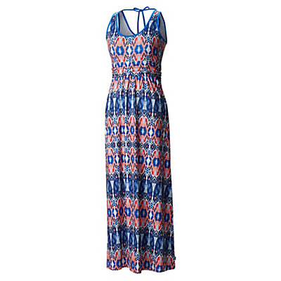 Mountain Hardwear DrySpun Perfect Printed Maxi Dress, Bright Island Blue, viewer