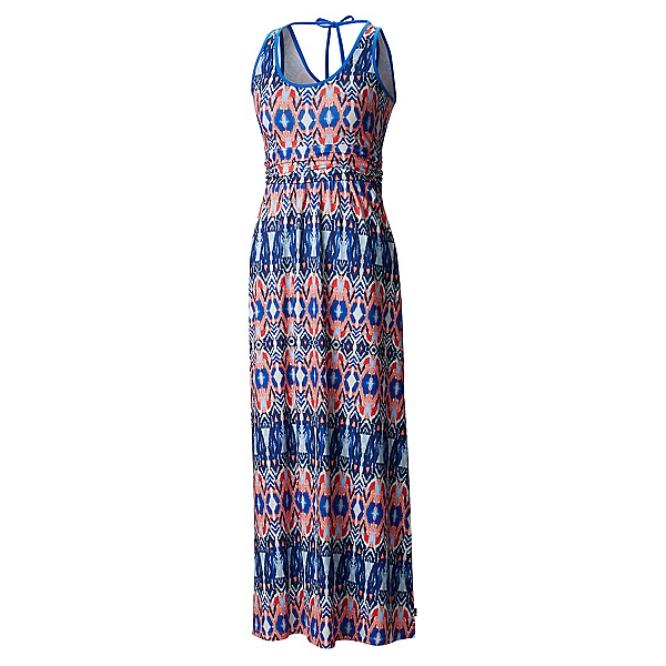 Mountain Hardwear DrySpun Perfect Printed Maxi Dress, Bright Island Blue, 600
