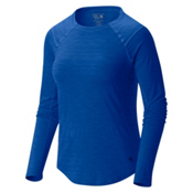 Mountain Hardwear Mighty Stripe Long Sleeve Womens Shirt, Bright Island Blue, medium