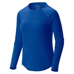 Mountain Hardwear Mighty Stripe Long Sleeve Womens Shirt, Bright Island Blue, 256