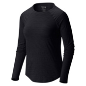 Mountain Hardwear Mighty Stripe Long Sleeve Womens Shirt, Black, medium