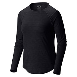 Mountain Hardwear Mighty Stripe Long Sleeve Womens Shirt, Black, 256