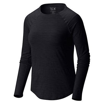 Mountain Hardwear Mighty Stripe Long Sleeve Womens Shirt, Black, viewer