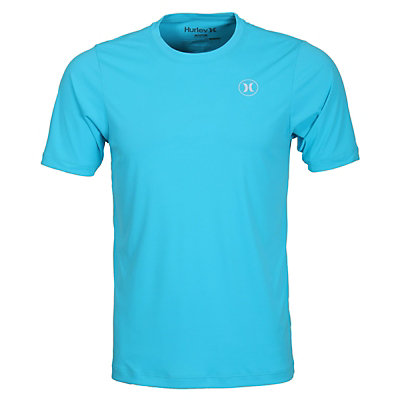 Hurley Dri-Fit Icon SS Surf Shirt Mens Rash Guard, Beta Blue, viewer