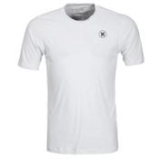 Hurley Dri-Fit Icon SS Surf Shirt Mens Rash Guard, White, medium
