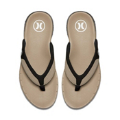 Hurley Phantom Free Mens Flip Flops, Khaki, medium