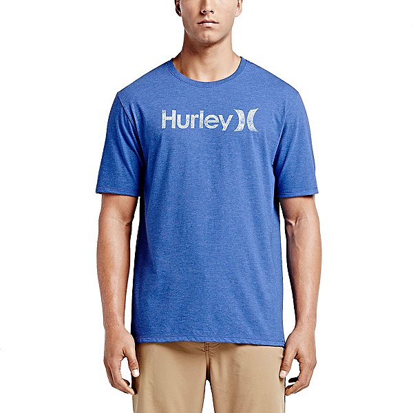 Hurley One and Only Push Through Short Sleeves Mens T-Shirt, Heather Royal 2, 600