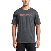 Hurley One and Only Push Through Short Sleeves T-Shirt, Heather Black-Black, medium