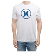 Hurley Circle Icon Dri-Fit Mens T-Shirt, White A, medium