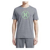 Hurley Circle Icon Dri-Fit T-Shirt, Heather Graphite, medium