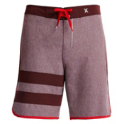 Hurley Phantom Block Party Heather Boardshorts, Mahogany, medium