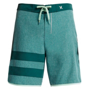 Hurley Phantom Block Party Heather Boardshorts, Dark Emerald, medium