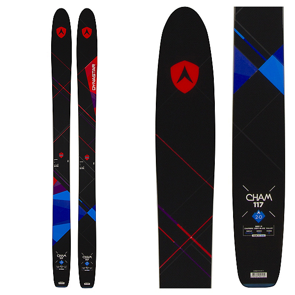 Dynastar Cham 2.0 117 Skis, Black, 600