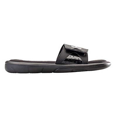 Under Armour Ignite IV Slide Mens Flip Flops, Black-Black-White, viewer