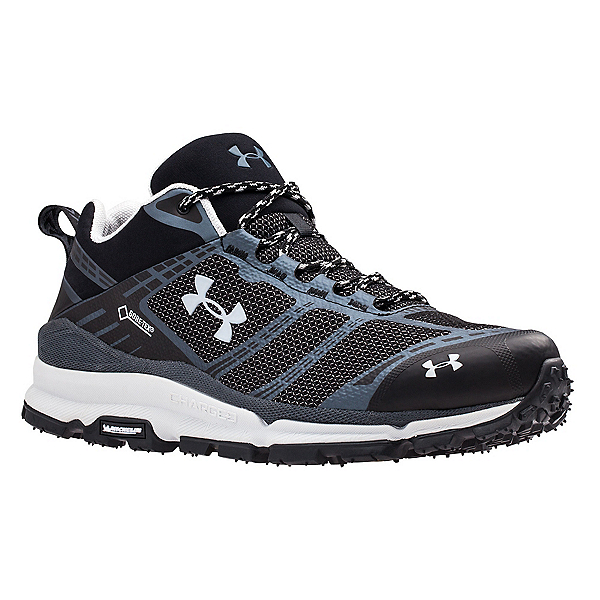Under Armour Verge Low GTX Mens Shoes, Black-Stealth Gray-Elemental, 600