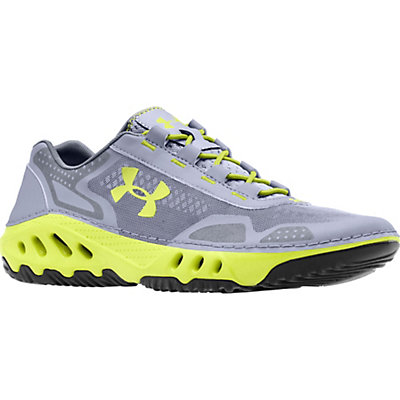 Under Armour Drainster Mens Watershoes, Steel-Graphite-Velocity, viewer