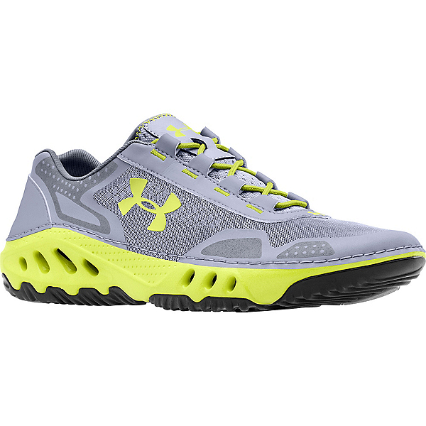 Under Armour Drainster Mens Watershoes, Steel-Graphite-Velocity, 600