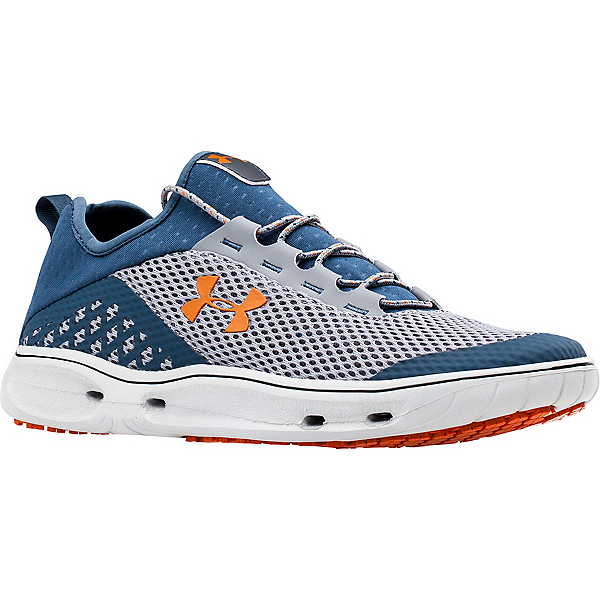 Under Armour Kilchis Mens Watershoes, Steel-Mechanic Blue-Rodeo Oran, 600