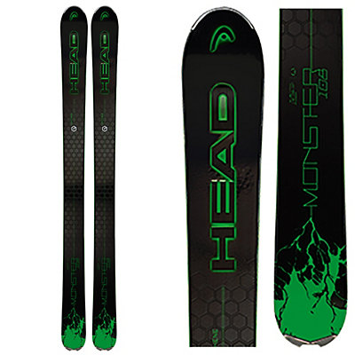 Head Monster 108 Ti Skis, Black-Green, viewer