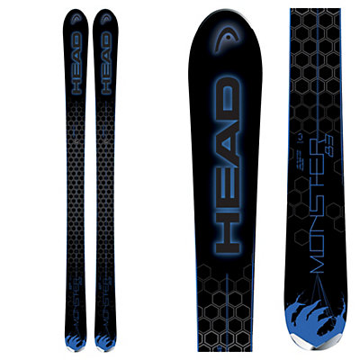 Head Monster 83 Skis, Black-Blue, viewer