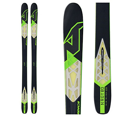 Nordica NRGy 80 Skis, Black-Green, viewer