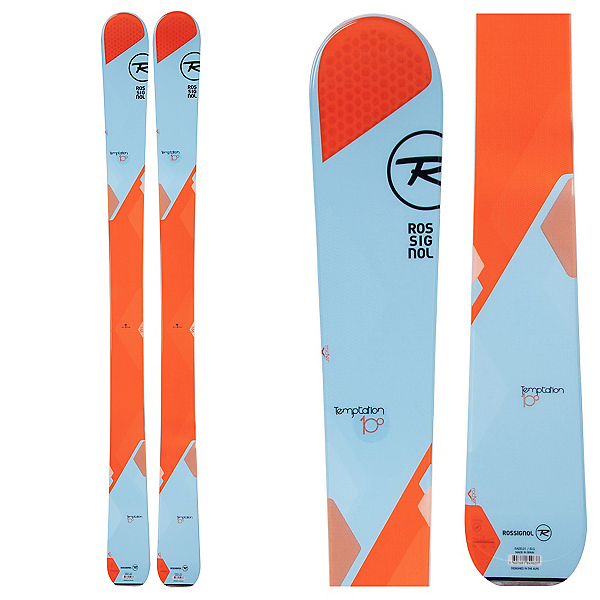 Rossignol Temptation 100 Womens Skis, Blue-Orange, 600