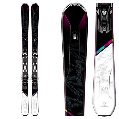 Salomon W-Max Womens Skis with XT 10 Ti Bindings, Black-White, viewer