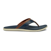 OluKai Polena Mens Flip Flops, Trench Blue-Trench Blue, medium