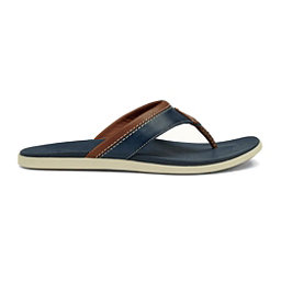 OluKai Polena Mens Flip Flops, Trench Blue-Trench Blue, 256